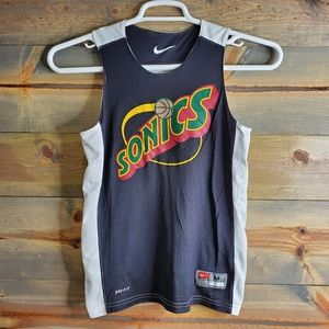 Nike youth Sonics basketball practice jersey